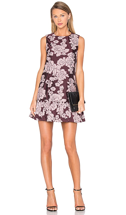 Cynthia Rowley Jacquard Mini Tank Dress in Burgundy