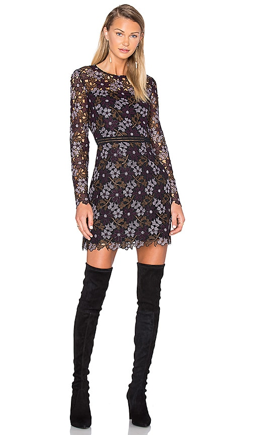 Cynthia Rowley Lynden Bell Floral Mini Dress in Purple