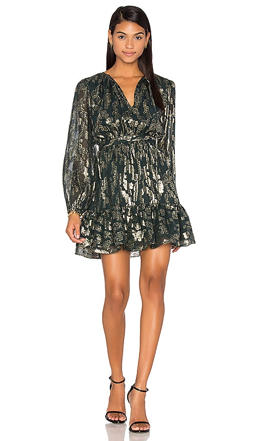 Cynthia Rowley Metallic Boho Dress in Metallic Gold