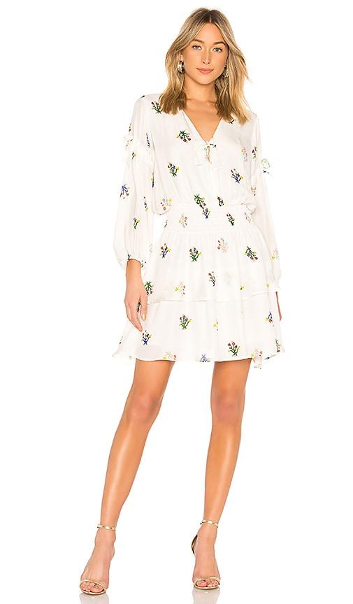 Cynthia Rowley Celia Smocked Mini Dress in White