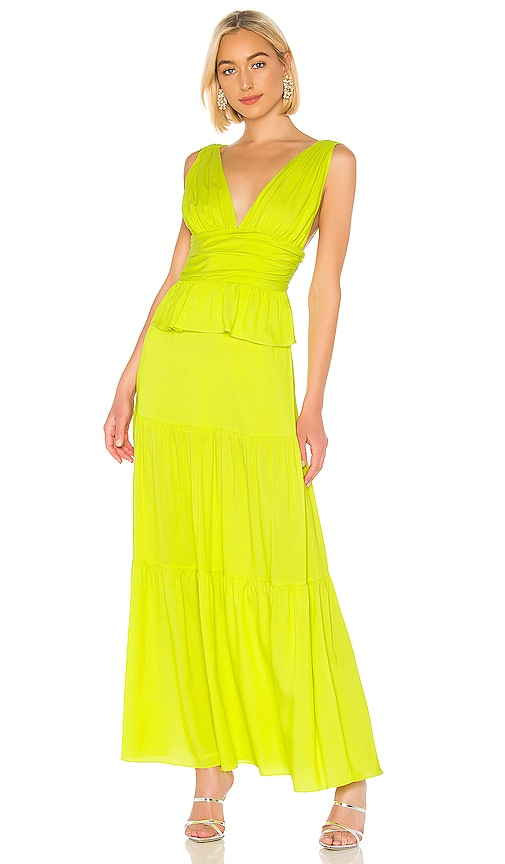Cynthia Rowley Parker Maxi Dress in Lime | REVOLVE