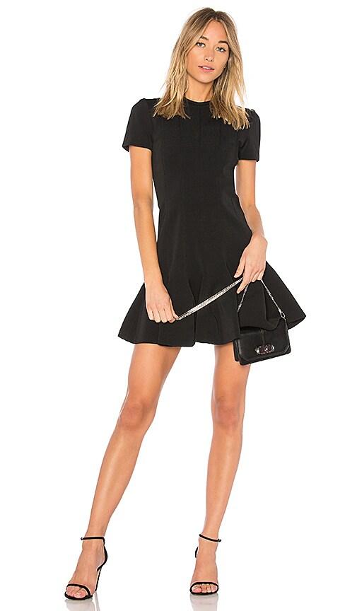Carven Peplum Mini Dress in Black