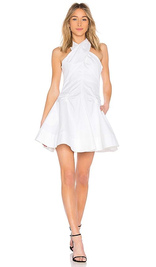 Carven Robe Courte Dress in White