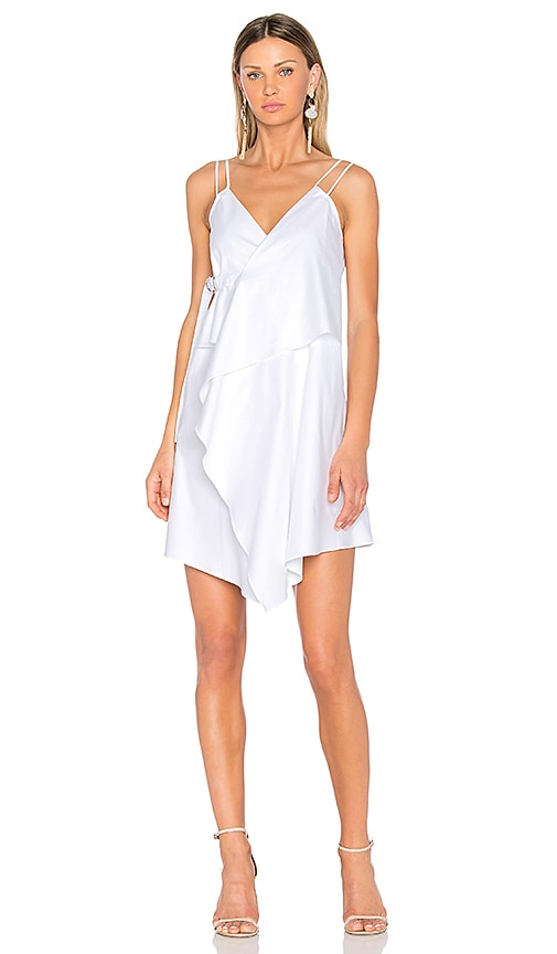 Carven Wrap Dress in White