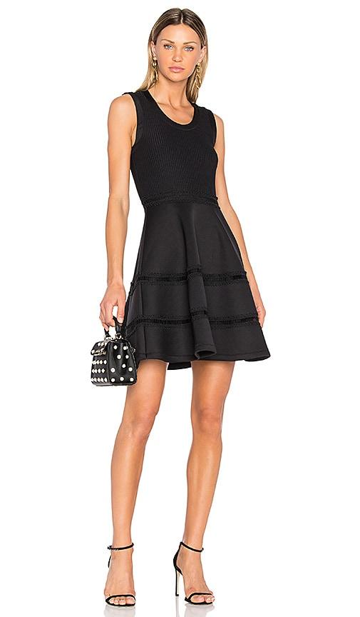 Carven Ruffle Mini Dress in Black