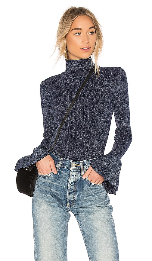 Carven Sweater With Pleats in Blue