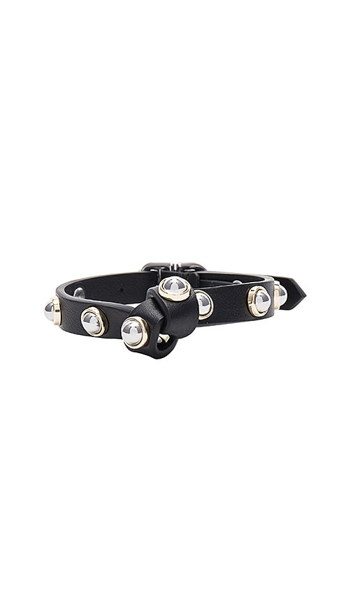 Carven Full Joy Stud Bracelet in Black