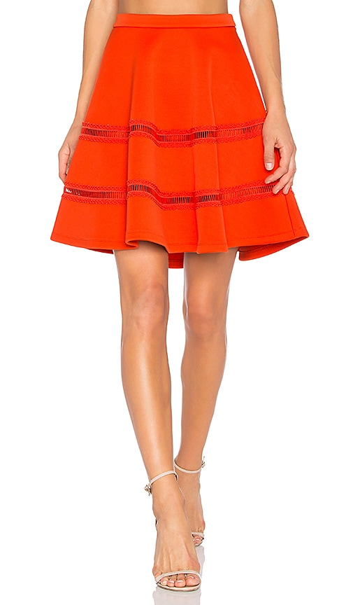 Carven Flowy Mini Skirt in Orange