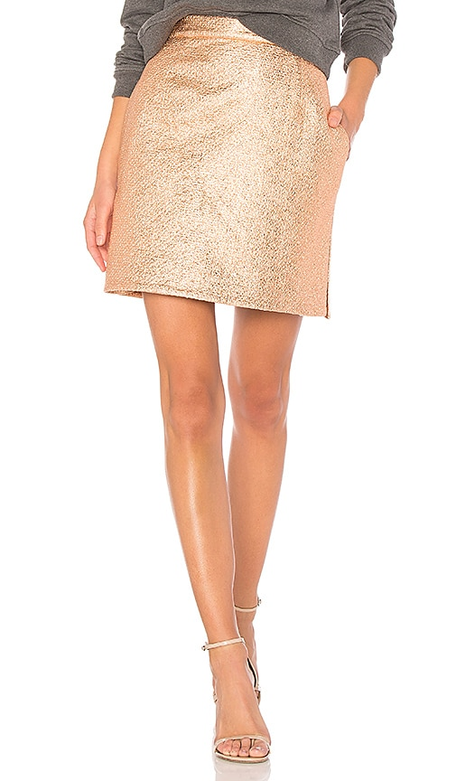 Carven Pencil Skirt in Metallic Copper
