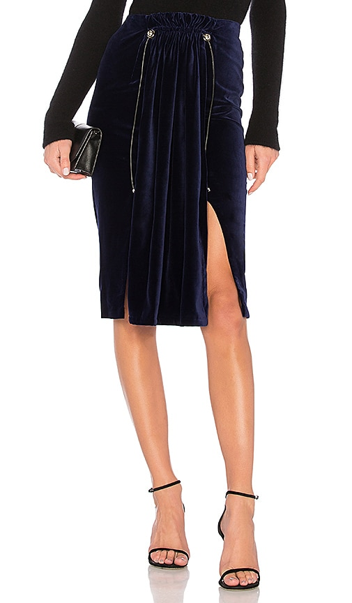 Carven Pleated Skirt in Blue