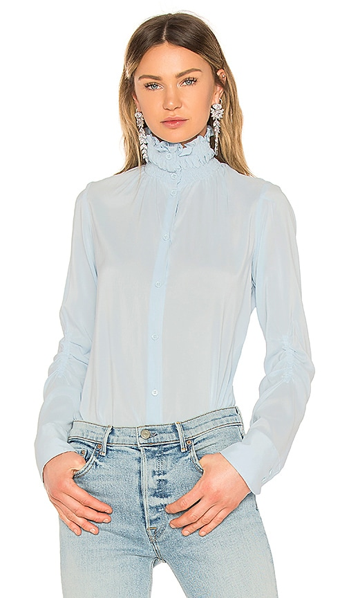 Carven Chemise Manches Longues Top in Baby Blue
