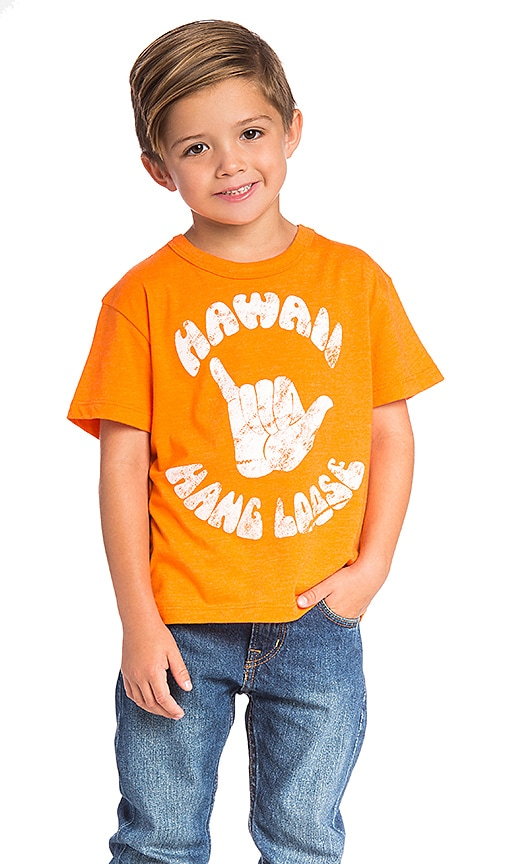 Chaser Hawaii Hang Loose Tee in Orange