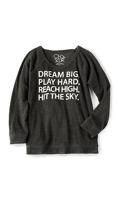 Chaser Dream Big Play Hard Tee in Black