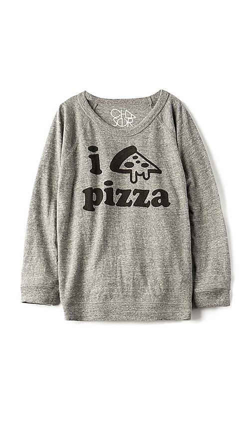 Chaser Pizza Time Tee in Gray