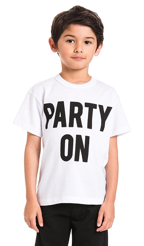 Chaser Party On Tee in White