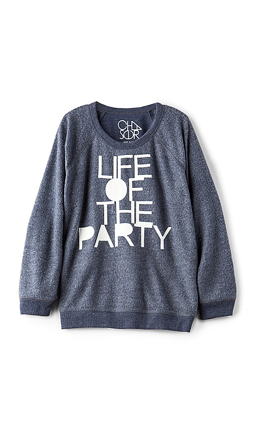 Chaser Life Of The Party Pullover in Navy