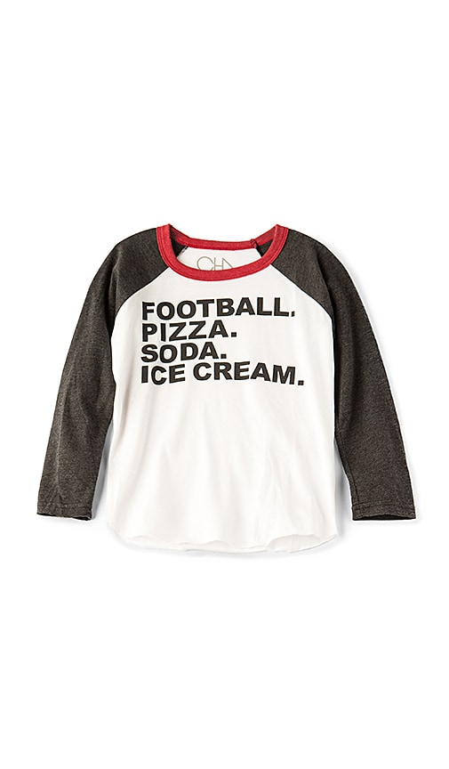 Chaser Football & Food Tee in White
