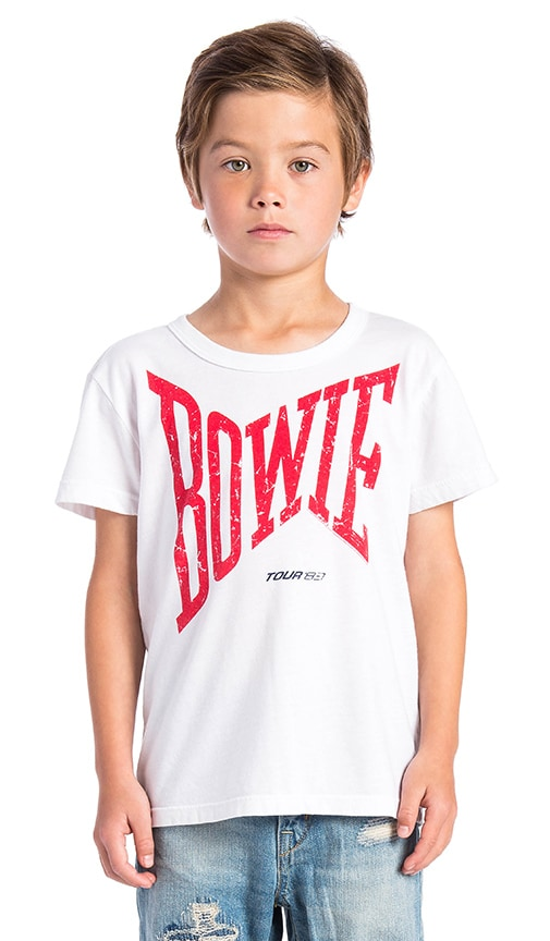 Chaser David Bowie Let's Dance Logo Tee in White