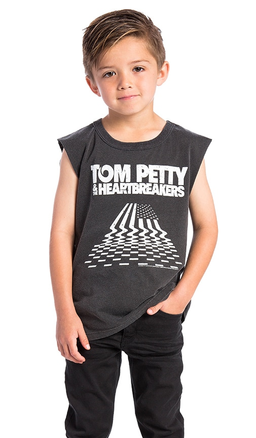 Chaser Hypnotize Tom Petty America Tee in Vintage Black