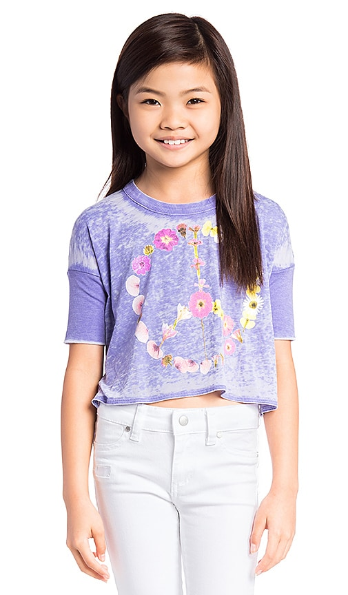 Chaser Peace Blossom Tee in Purple
