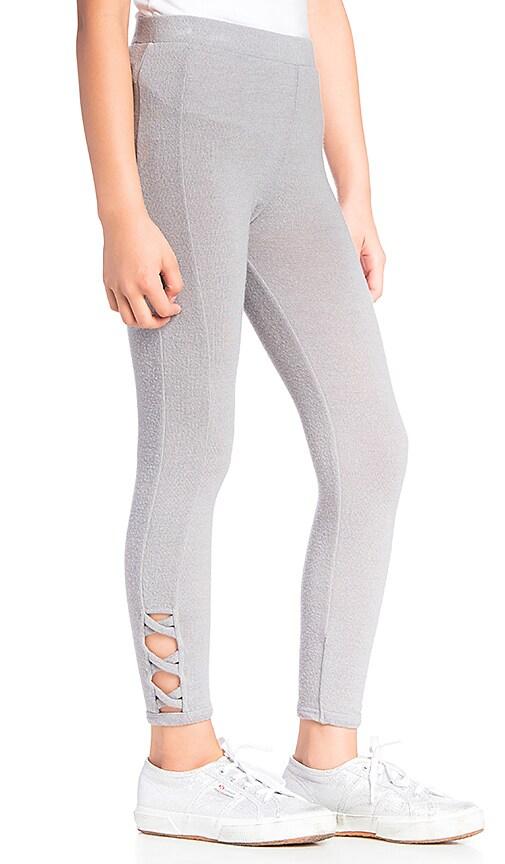 Chaser Love Knit Side Panel Legging in Platinum