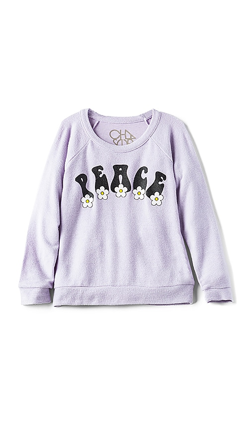 Chaser Hippie Peace Pullover in Lavender