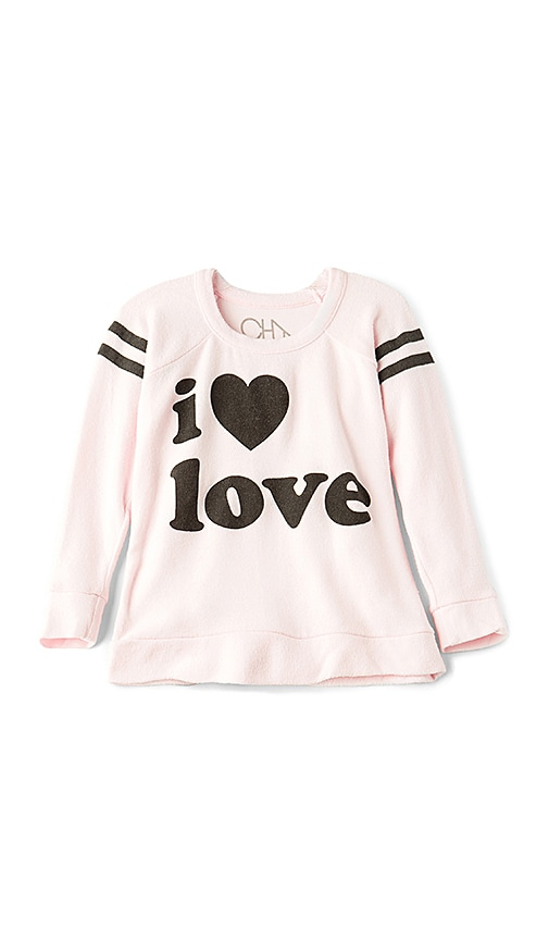 Chaser I Love Love Sweatshirt in White