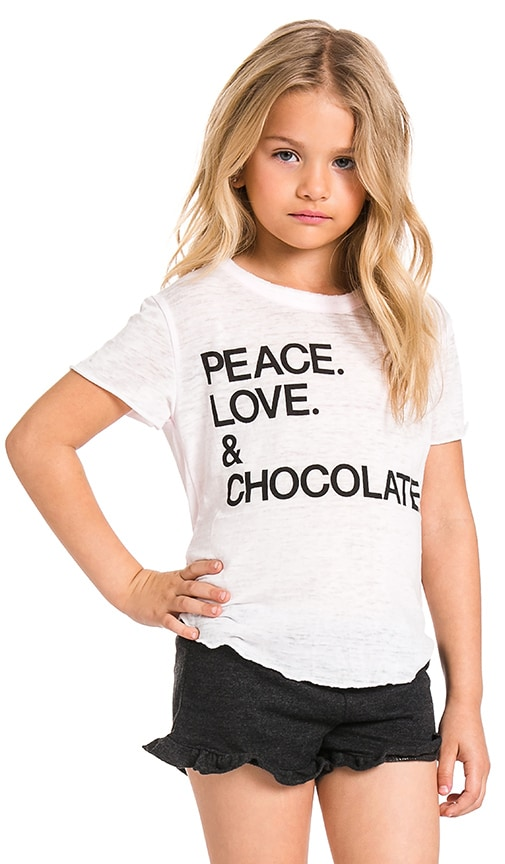 Peace.Love.& Chocolate Tee