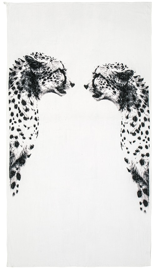 Cheetah Mirror Beach Towel