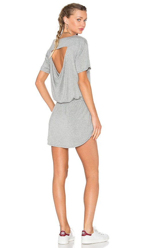 Chaser Drape Back Pocket Mini Dress in Gray