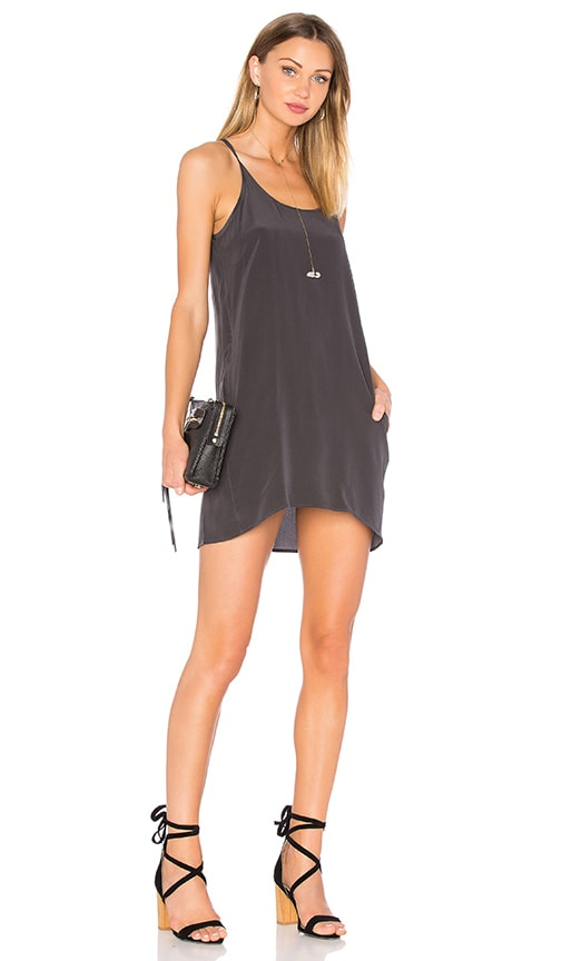 Silk T Back Mini Dress