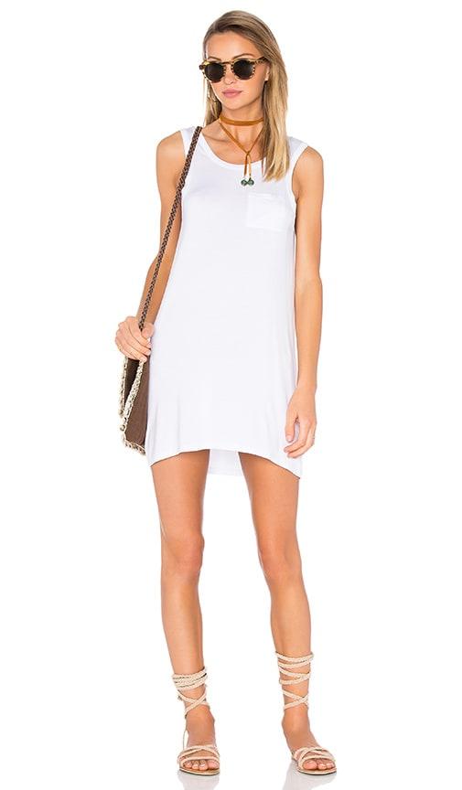 Chaser Open Back Mini Dress in White