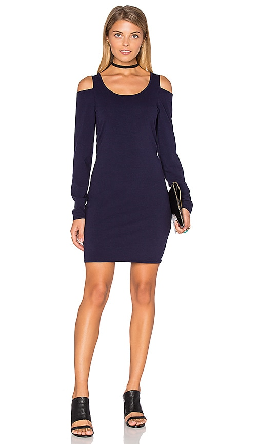 Chaser Cold Shoulder Bodycon Dress in Navy