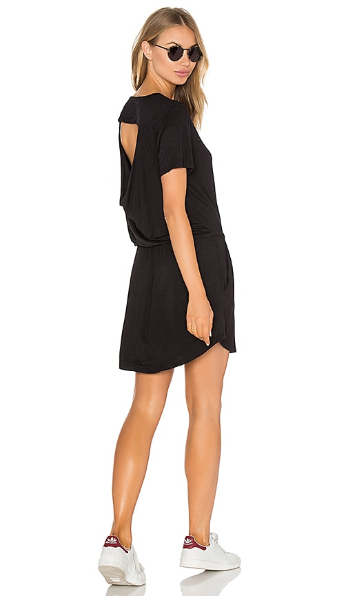 Drape Back Pocket Mini Dress