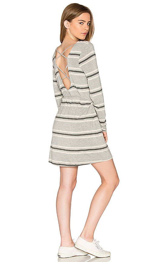 Chaser Cross Back Mini Dress in Gray