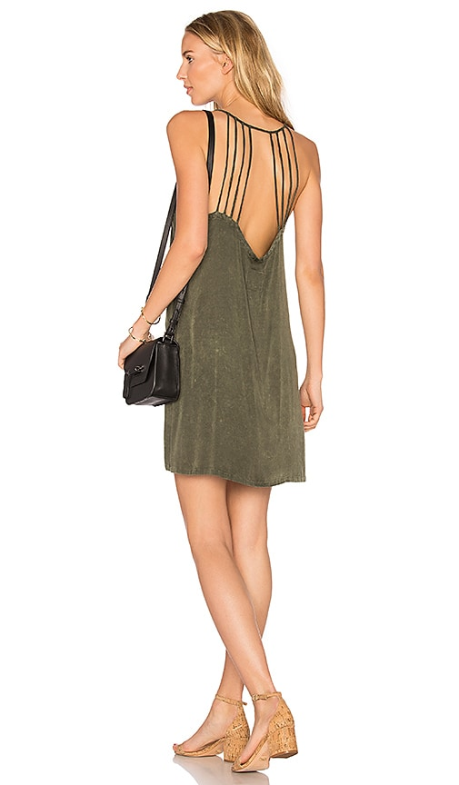 Chaser Strappy Halter Dress in Green