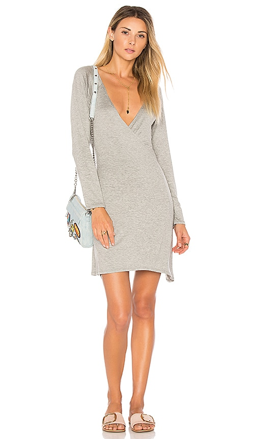 Chaser Cool Jersey Wrap Dress in Gray