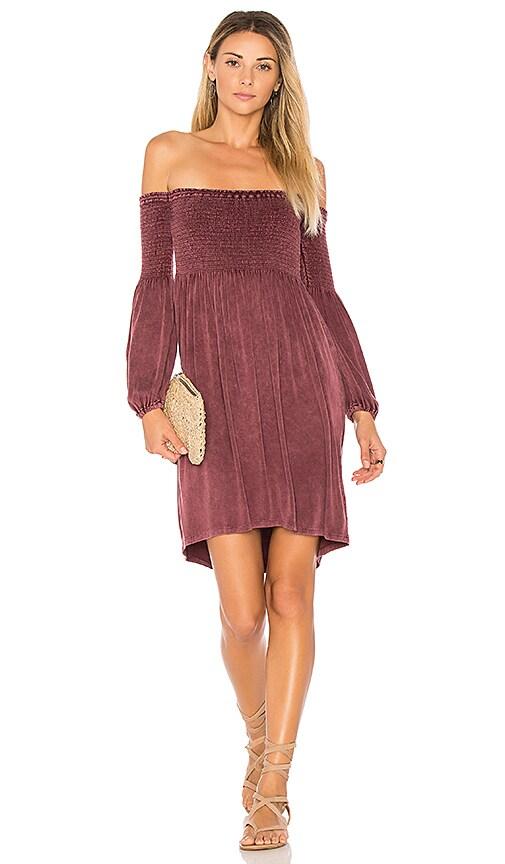 Chaser Heirloom Mini Dress in Burgundy
