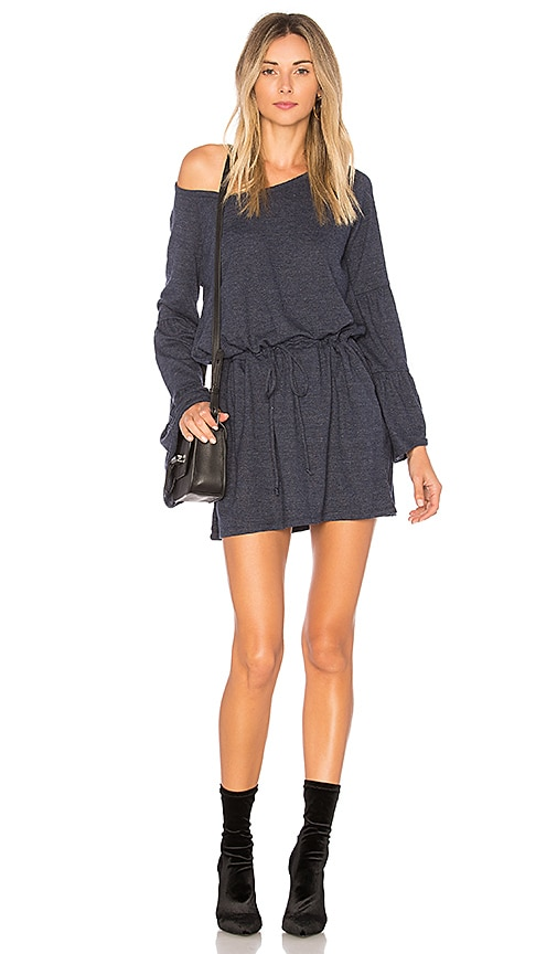 Chaser Jersey Drawstring Mini Dress in Navy