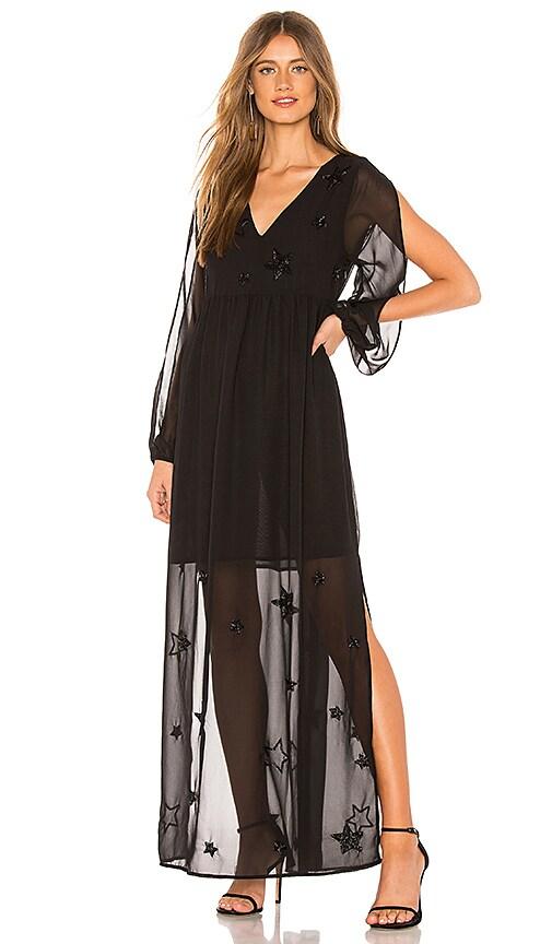 Beaded Star Maxi Dress