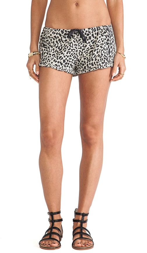 Ruffle Animal Print Short