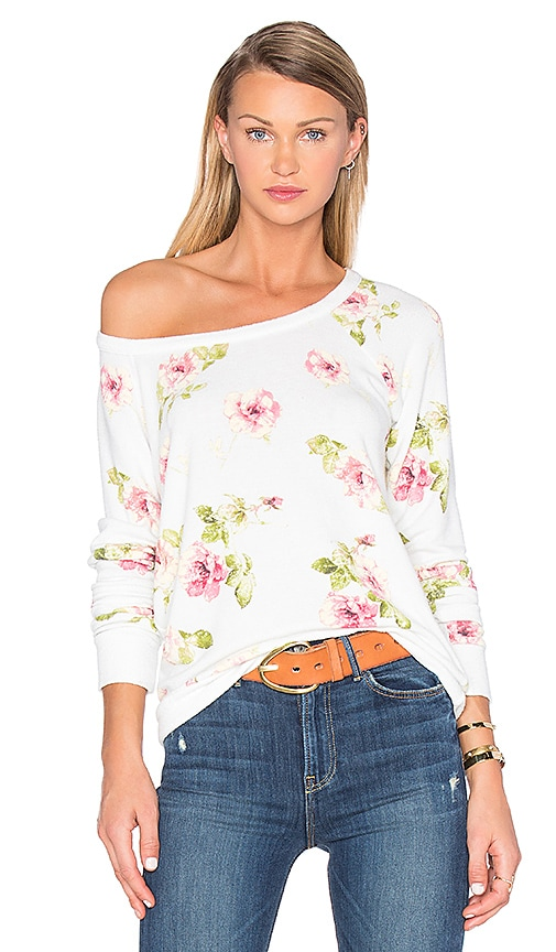 Chaser English Rose Sweater in Ivory