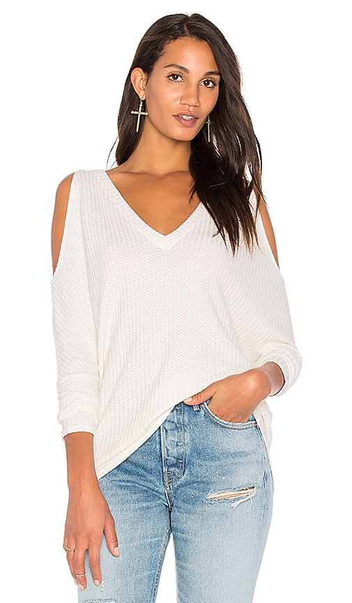 Chaser Thermal Dolman Top in White