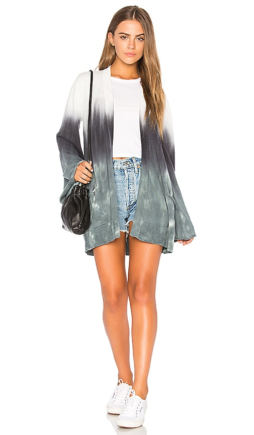 Chaser Bell Sleeve Cardigan in Blue