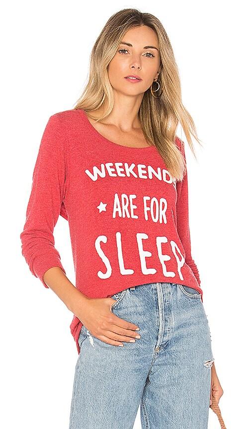 Chaser Weekend Sleep Sweatshirt in Red