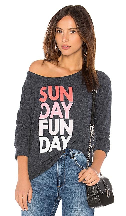 Chaser Sunday Funday Sweatshirt in Navy