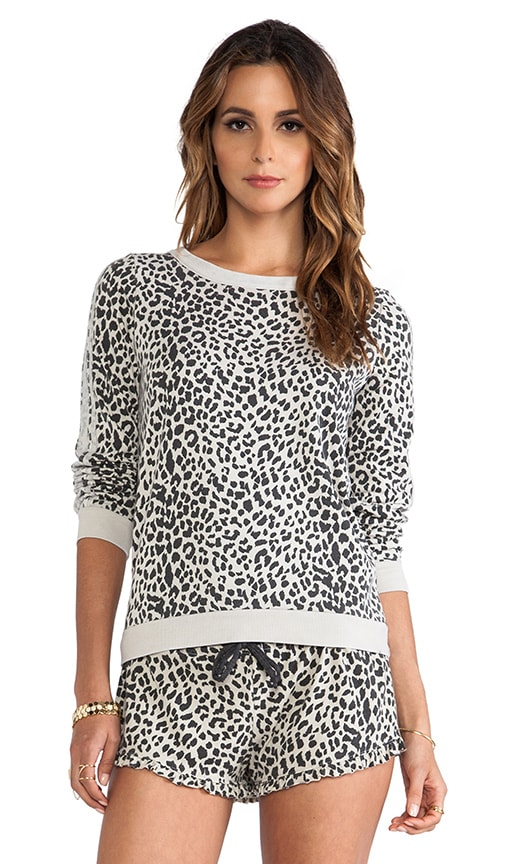 Reverse Animal Print Pullover