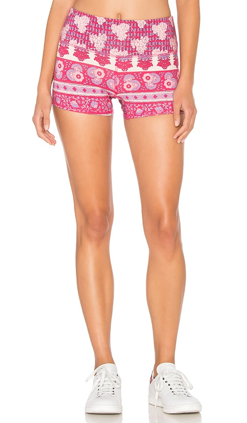 Chaser Printed Active Short in Pink Sarong