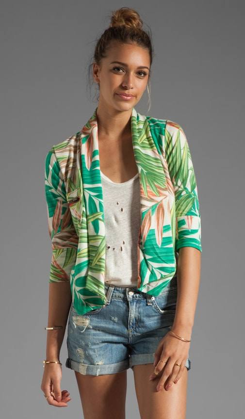 Fleece Printed Blazer