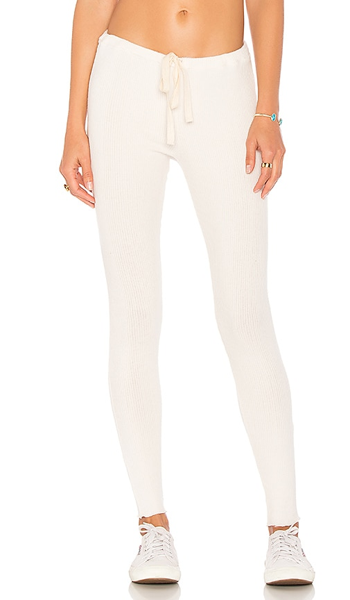 Chaser Love Rib Long John Pants in Ivory